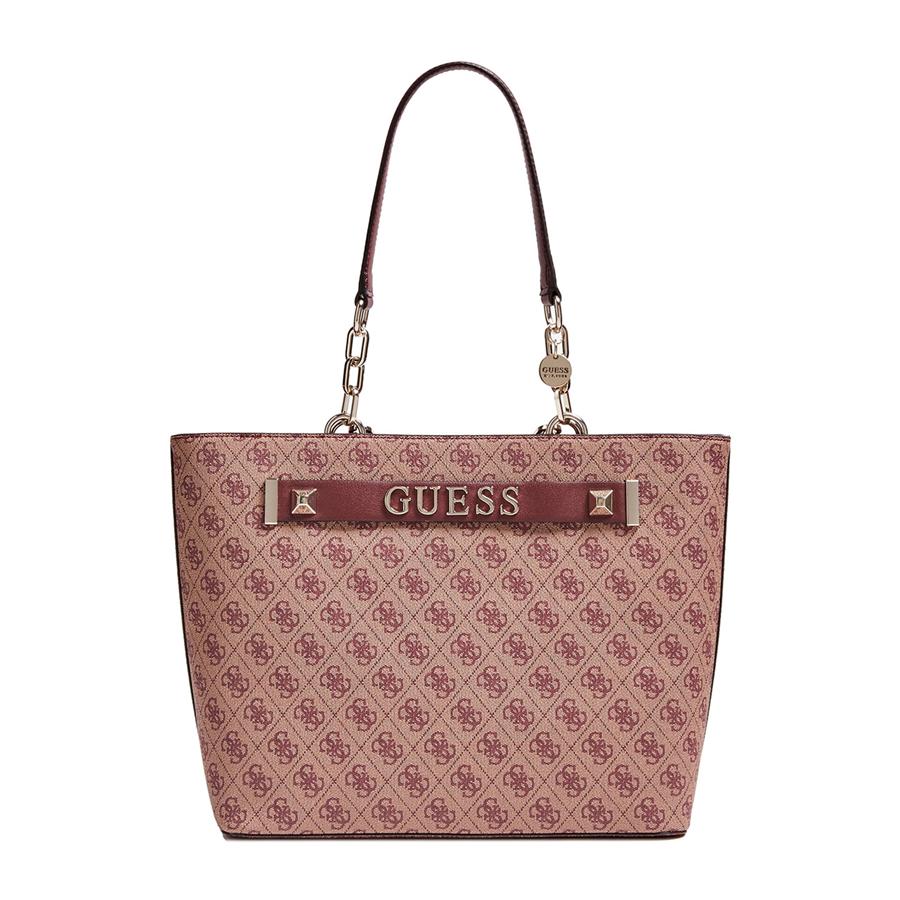 Details about Handbags guess woman shopper Kerrigan Logo Studded MERLOT HWSG 7442230 show original title