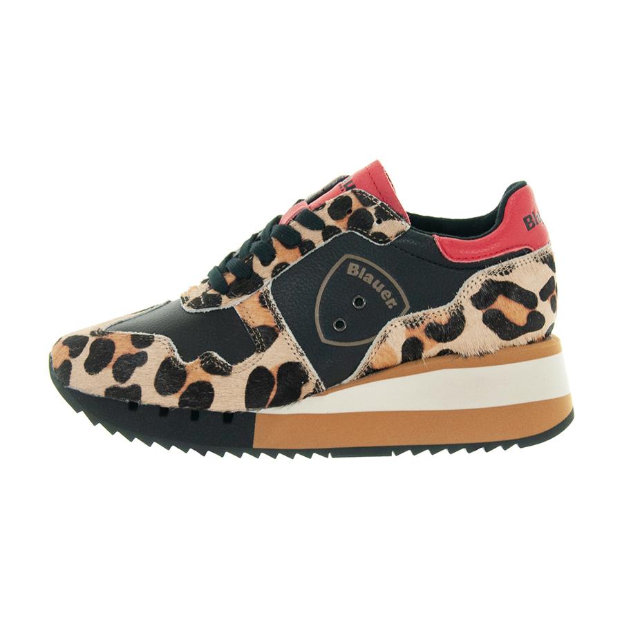 comprare bene online in vendita Nuovi Prodotti Details about Women's shoes BLAUER scharlotte Sneaker Leather and Pony  Cognac 9 fcharlotte 01c- show original title