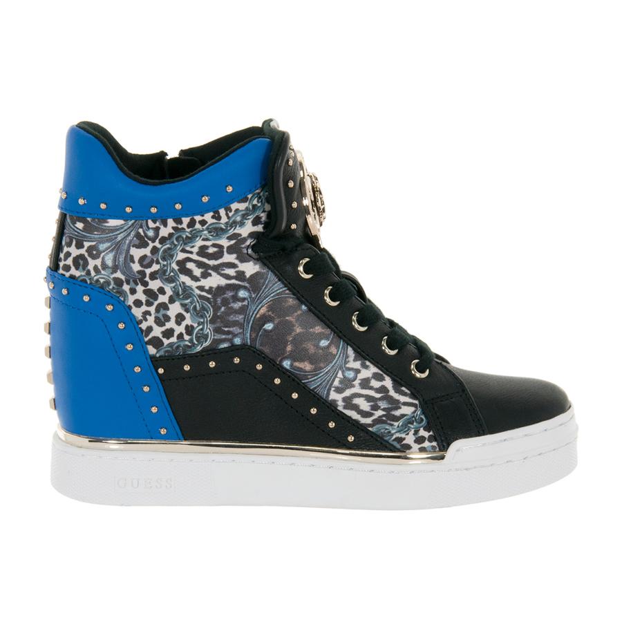 In Blu Scarpe Finer Pelle Zeppa Guess Donna Interna Sneaker qzMUVGpS