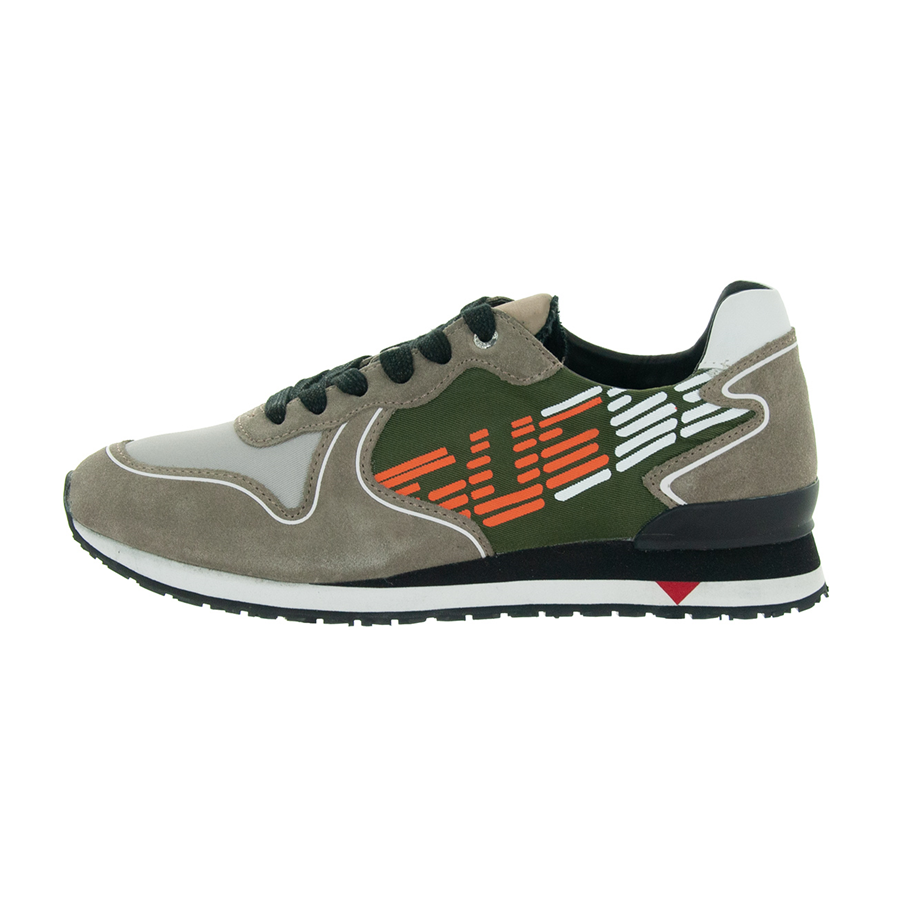 SCARPE GUESS UOMO Sneaker Camoscio E Tessuto New Glorym Arde